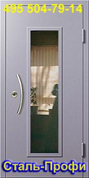 стеклопакет металлической двери