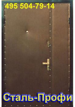 дверь в коридоре металлическая установка