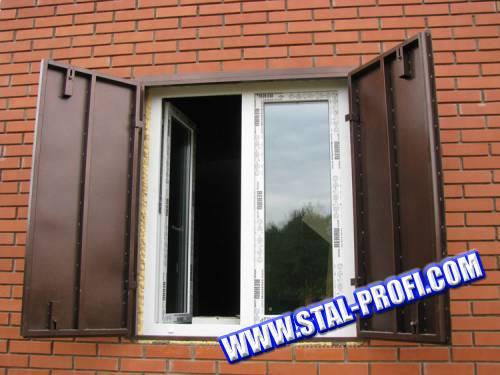 Металлические ставни на окна для дачи своими