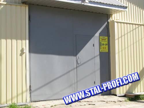Гаражные металлические ворота
